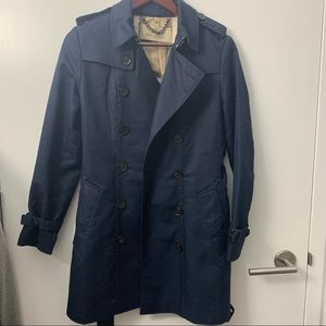 Burberry Brit trench coat outlet size 4 navy blue